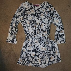 New floral boohoo long sleeve romper